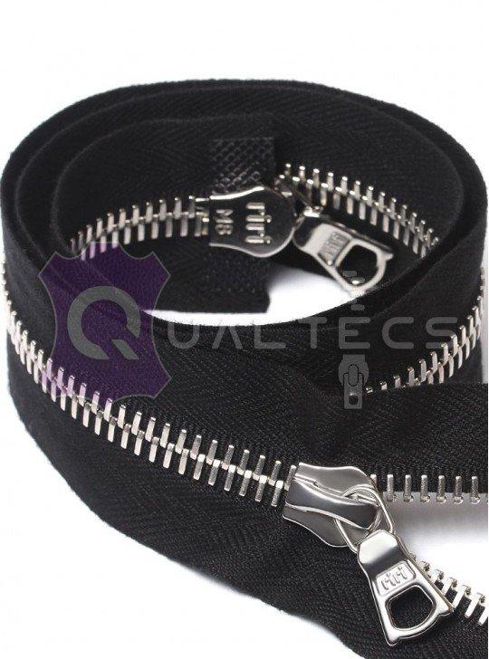 Metal zipper RIRI M8 | Length 65 cm | 2 lock | Colour: Black