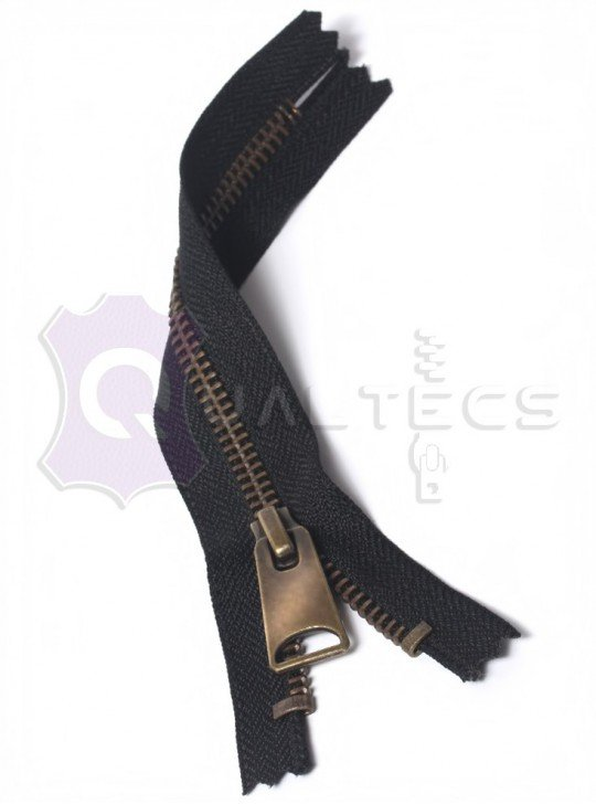 УКК молния металлическая неразъёмная  Карманка | Цвет: Антик | Звено: 5 мм | Длина: 16 см