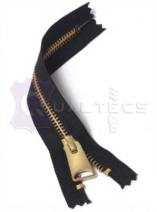 УКК молния металлическая неразъёмная  Карманка | Цвет: Золото | Звено: 5 мм | Длина: 16 см