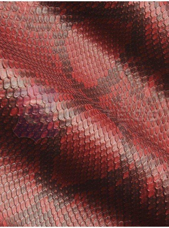 натуральная кожа питона    Цвет: Красный