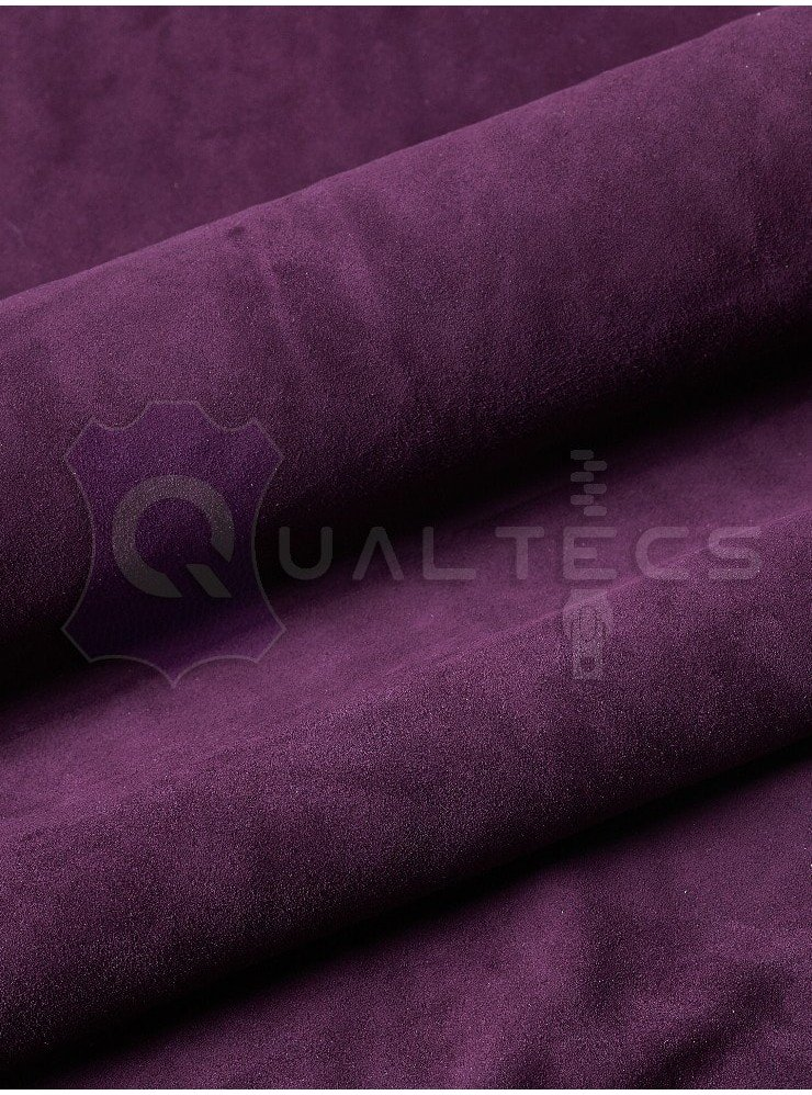 замш одежный на овчине | Цвет: фиолетовый