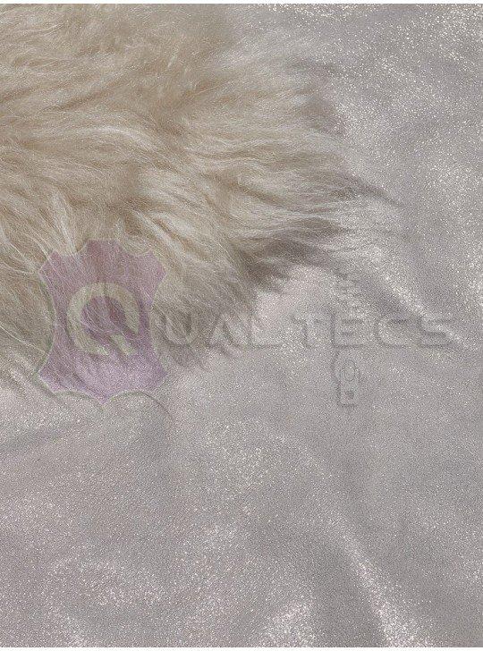Мех дубленочный Овчина Kashmire | Цвет: Белый Блеск