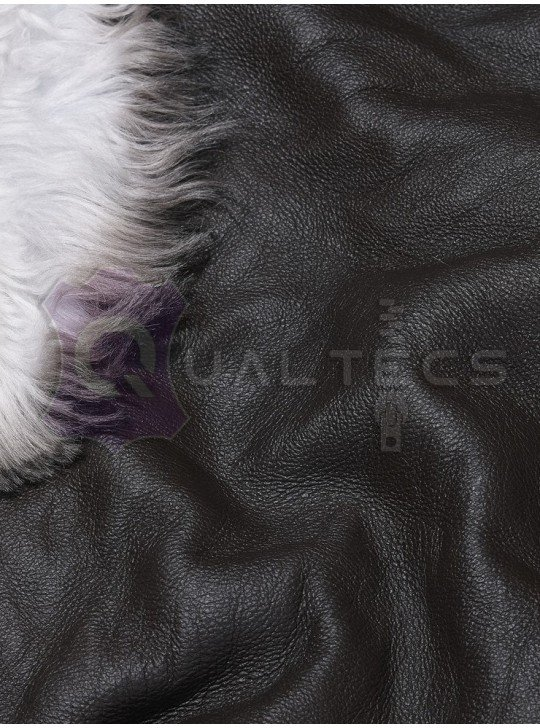 Tanned material fur for sheepskin coats Tuscany Mongolia (Curly) | Color: Brown