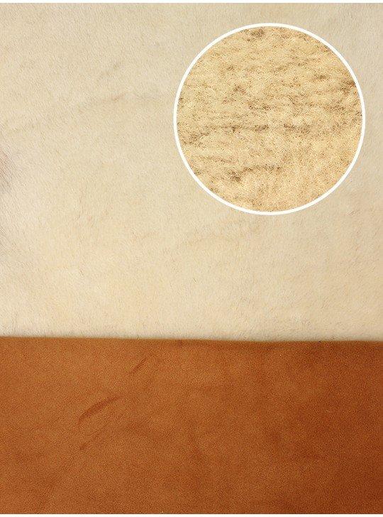 Мех дубленочный Овчина Merino | Цвет: Рыжий велюр с белым мехом