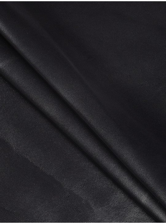 Leather clothing Turkey glossy nappa leather | Colour: black