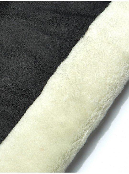 Tanned material fur for sheepskin coats Sheepskin | Color: black
