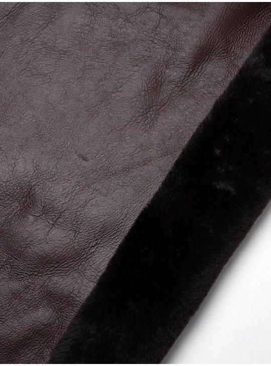 Tanned material fur for sheepskin coats Sheepskin | Color: bordo