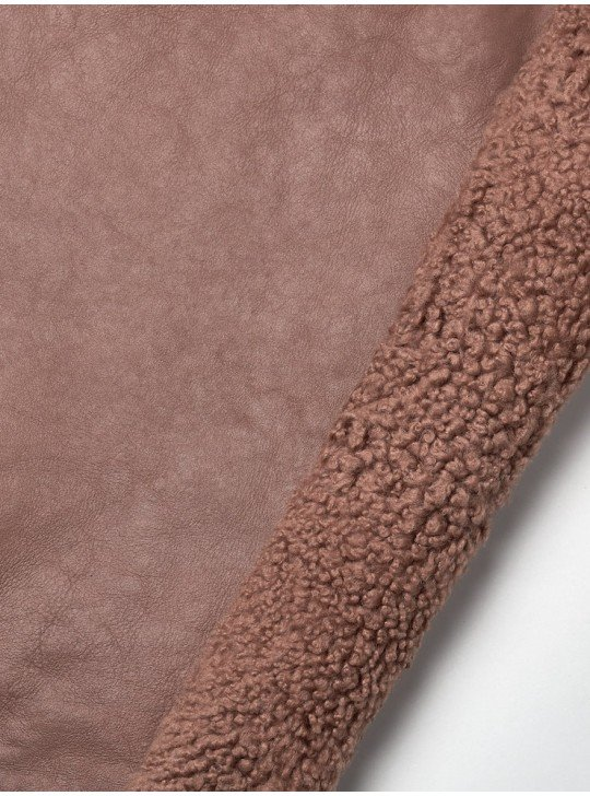 Tanned material fur for sheepskin coats Sheepskin | Color: rose