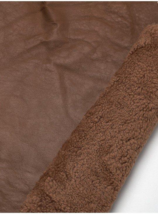 Tanned material fur for sheepskin coats Sheepskin   Color: beige