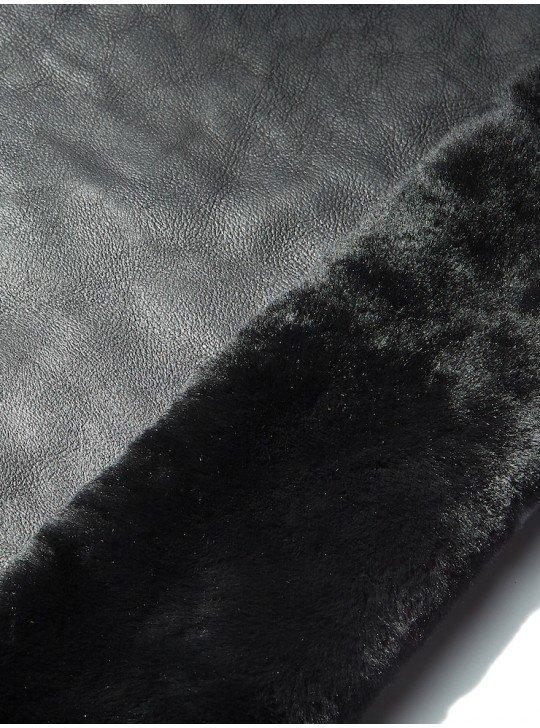 Tanned material fur for sheepskin coats Merino Sheepskin | Color: Black coated