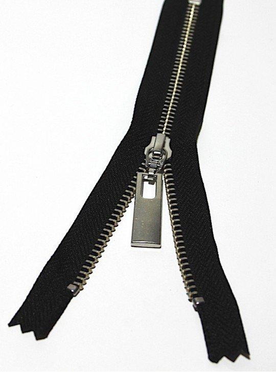 УКК молния металлическая неразъёмная  Карманка NMR238| Цвет: Серебро | Звено: 5 мм | Длина: 18 см