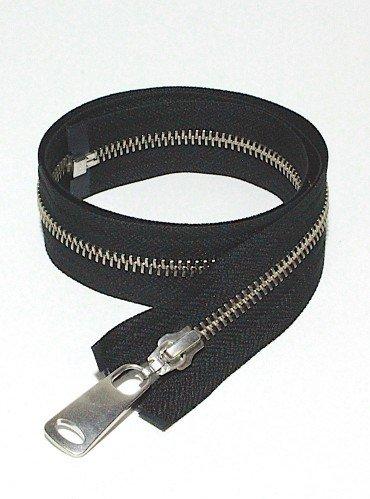 УКК молния металлическая разъемная с одним бегунком NMR42 | Цвет: Серебро| Звено: 5 мм | Длина: 75 см